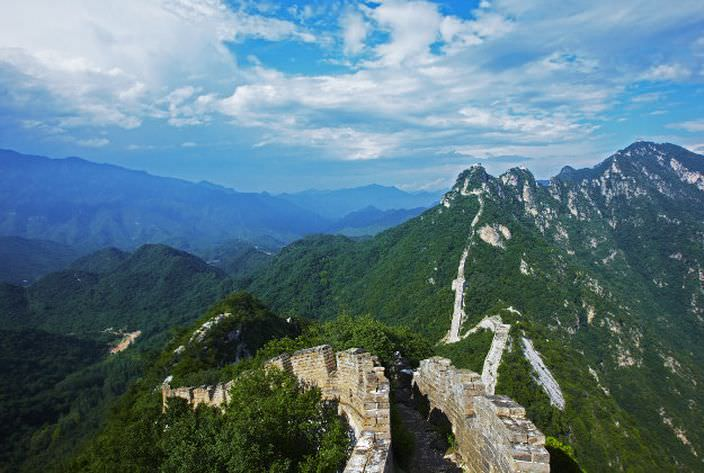 Jiankou section of Great wall of China.