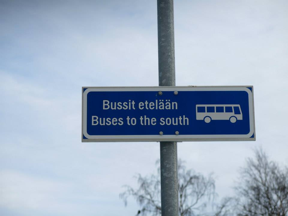 bus station to south