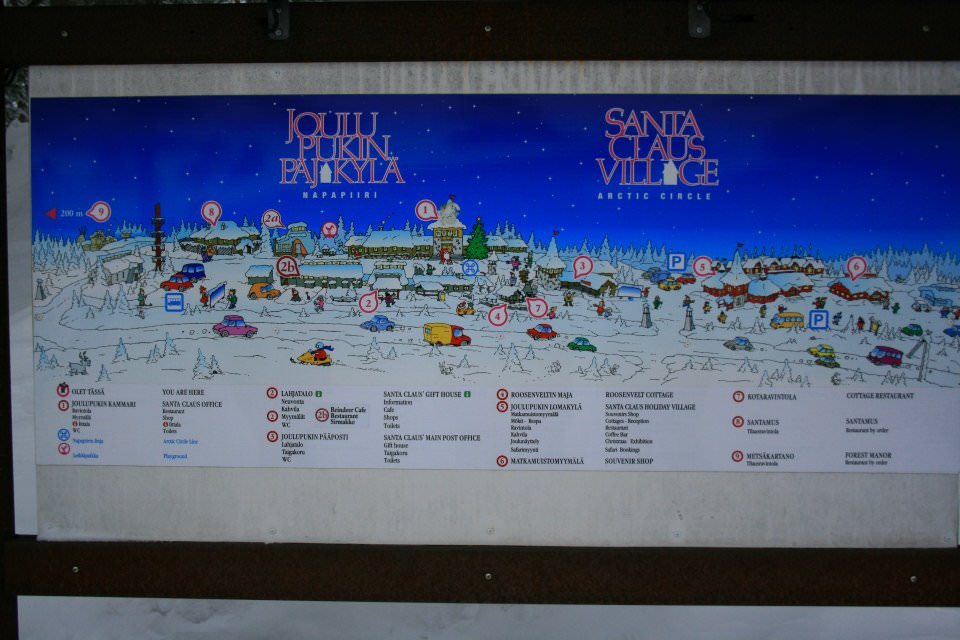 santa claus village map
